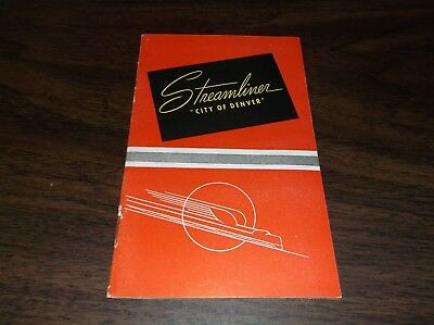 July 1940 Union Pacific City Of Denver Streamliner Up-C&nw   Booklet