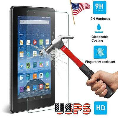 New Tempered Glass Screen Protector Flim For Amazon Kindle Fire HD 7 2015 Tablet