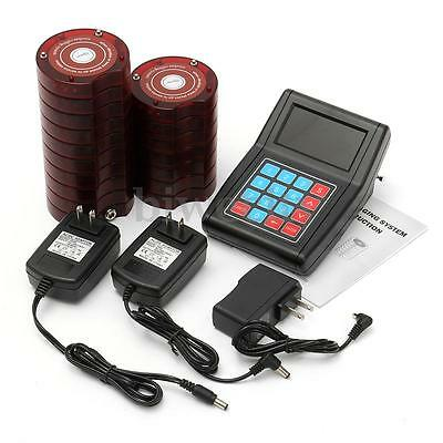 16 Restaurant Coaster Pager Guest Wireless Paging Queuing System + Transmitter