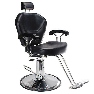 Salon Barber Chair Beauty Hairdressing Hydraulic Lift Chair Reclining Adjustable