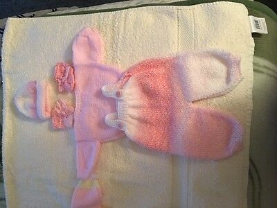 "NEW Hand Knitted Dolls Clothes 13""-14"" Reborn/Preemie - Multi coloured"