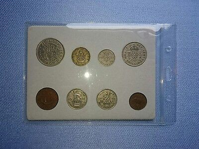Vintage 1951,8 Coin Year Set In Display.(Great 66TH Birthday Gift Idea).����.