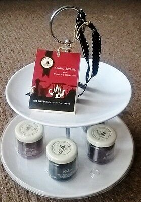 Mrs Bridges Cake Stand And 4 Jams / Preserves - Exp April 2019 / Afternoon Tea