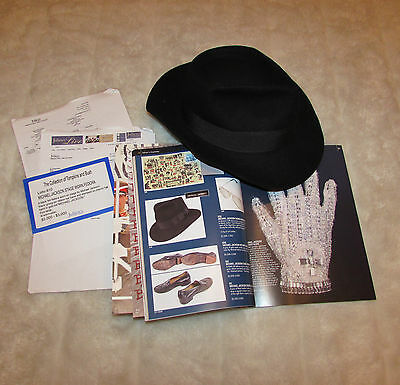 michael jackson worn personal hat asta coa juliens no signed lot 610