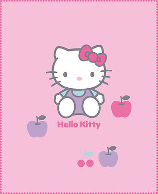 "*NEU* Fleecedecke HELLO KITTY ""Cherry"" 130 x 160 cm Sanrio Decke"