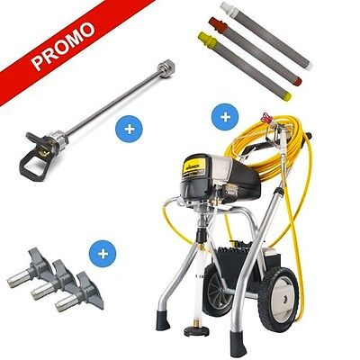 Wagner Power Painter 90 Airless Paint Sprayer +30 cm Extension, 3 Tips, 3 Filter