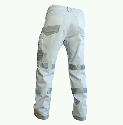 Hi Vis night workwear white pants / overalls