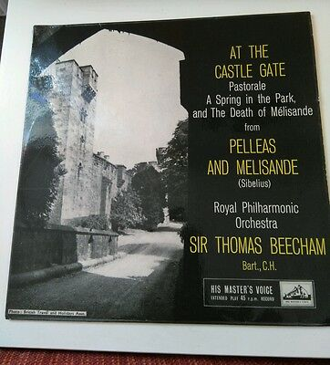 "Sibelius (7"" Vinyl P/S) At The Castle Gate HMV-7ER 5154-UK  EX/VG"