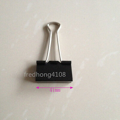 41mm Black Metal Binder Clip Paper Clips For Office School