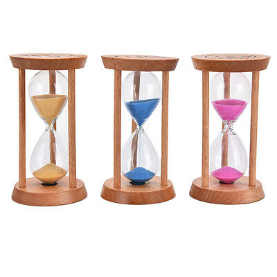 3 Mins Wooden Frame Sandglass Sand Glass Hourglass Timer Clock Decor  PR