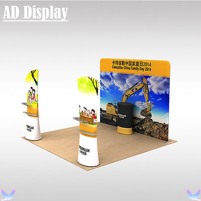 Exhibition Solution Portable Advertising Tension Fabric Display(include all)