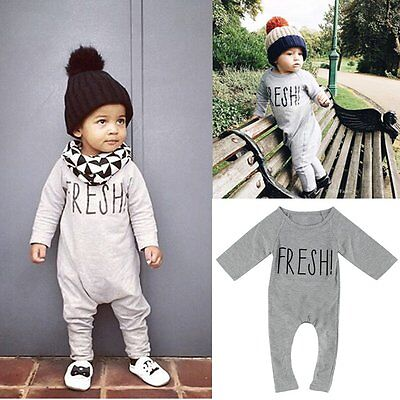 Newborn Toddler Baby Boys Girls Cotton Romper Bodysuit Playsuit Clothes Outfits