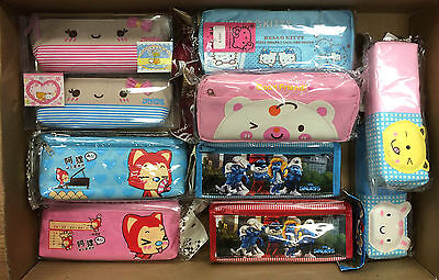 Lot of School/Home Pencil Cases For Boys/Girls Pencil Make up Case Stationary