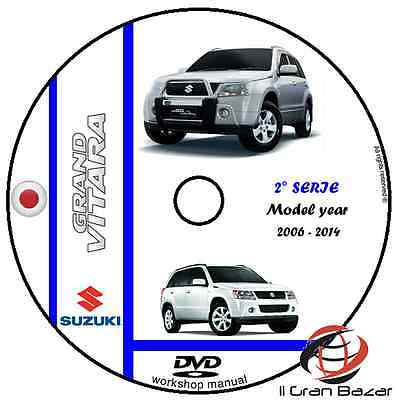 Manuale Officina Suzuki Grand Vitara Ii Series My 2006-2014 Workshop Manual Dvd