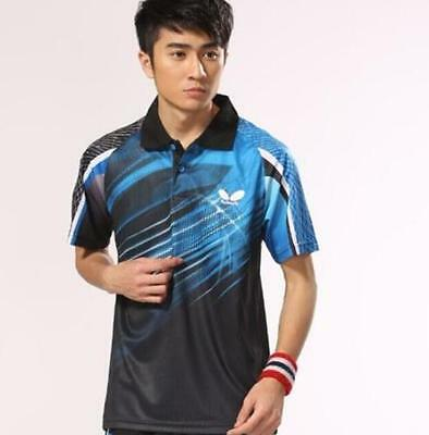 Free shipping Butterfly Man's Tops Outdoor sports Badminton/tennis T Shirts