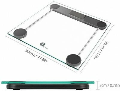 1byone Digital Body Weight Bathroom Scale, 180kg/400lb, Tempered Glass and