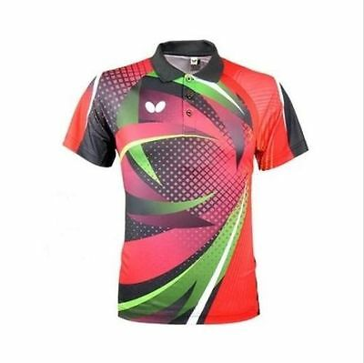 Free shipping Butterfly men's Tops table tennis clothing Badminton Only T-shirt