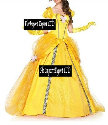Bella Vestito Carnevale Donna Dress up Belle Woman Costume BEL002