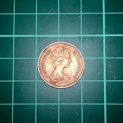 Rare 1971 New Pence 1p Coin Very rare for British Coin Collections