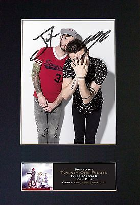 TWENTY ONE PILOTS Signed Autograph Mounted Photo RE-PRINT A4 637