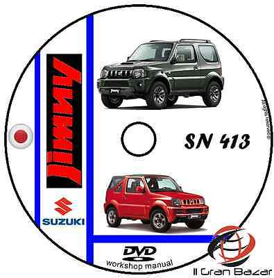 Manuale Officina Suzuki Jimny Sn413 Workshop Manual Service Cd Dvd