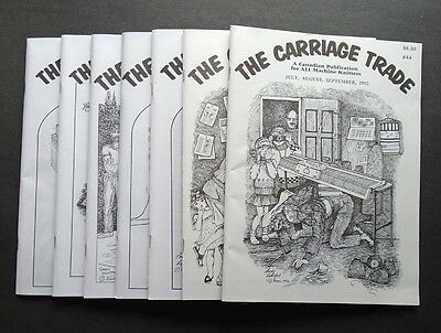 Machine Knitting CARRIAGE TRADE Magazine Lot of 7 Issues MANY PATTERNS