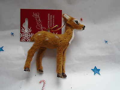 New Christmas Tidings SPOTTED FAWN Faux Fur Deer Ornament