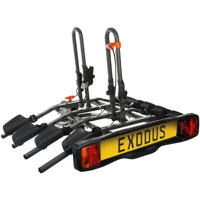Exodus 4 Bike Platform Car Rear Tow Bar Mounted Tilt Rack Bicycle Cycle Carrier