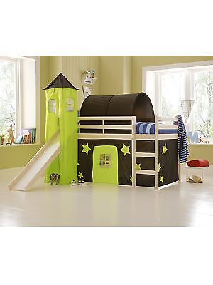 Black and Green tent, tower and tunnel for a Wooden Midsleeper