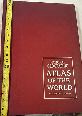 1970 National Geographic Atlas of the World Revised Third Edition
