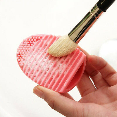 Pink Silicone Cleaning Cosmetic Make Up Washing Brush Gel Cleaner Scrubber Tool