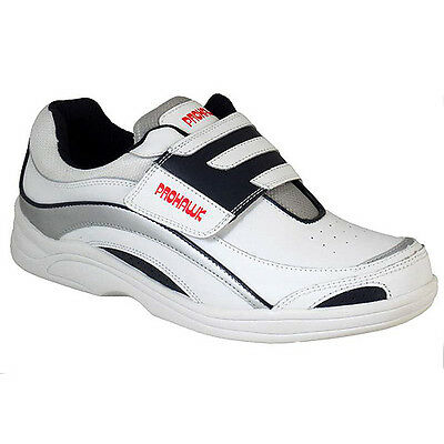 Henselite Prohawk Sports Velcro Bowls Shoe  White - Adult Size 12.