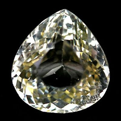 17.07 Ct Spordumene  Natural! Yellow Afghanistan Pear