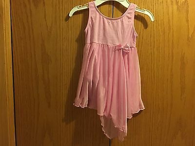 Girl's Dance Leotard W/Shirt attached Jacques Moret Pink Size 6/7