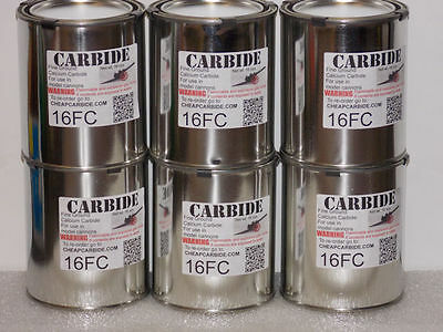 CALCIUM CARBIDE FINE grade cannon bangsite 6 pounds in cans