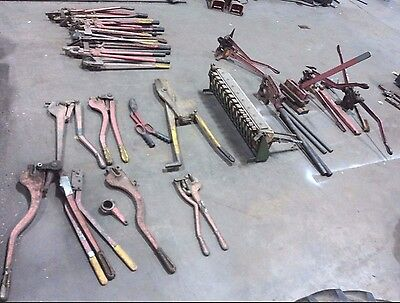 34 Pieces of Vintage Sheet Metal Tools + Tool Chest!! Whitney Metal - Thor