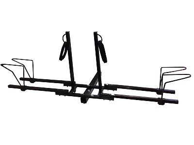 Dual Twin Lower Mount Bike Bicycle Trailer Hitch Mount Carrier Rack
