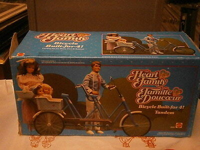 Tandem Famiglia Cuore Mattel Bicyclette The Heart Family