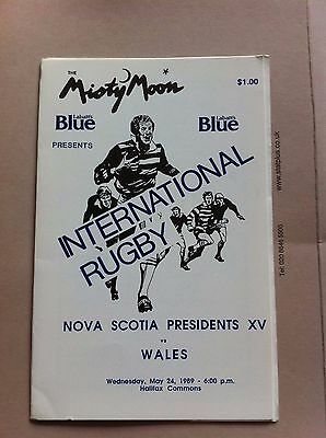 Nova Scotia Presidents XV v Wales 1989