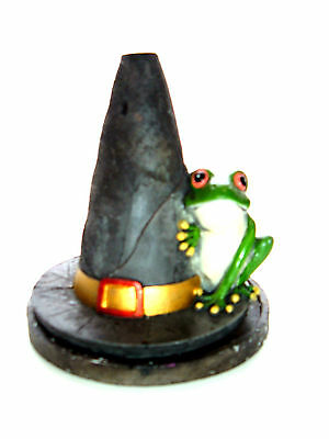 Witches Hat/Frog Incense Cone Burner by Lisa Parker-Height 12cm, 10 Free Cones