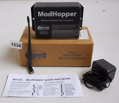 Obvious ModHopper R9120-3 Wireless ModBus/Pulse High Power 1500 Ft (NEW)