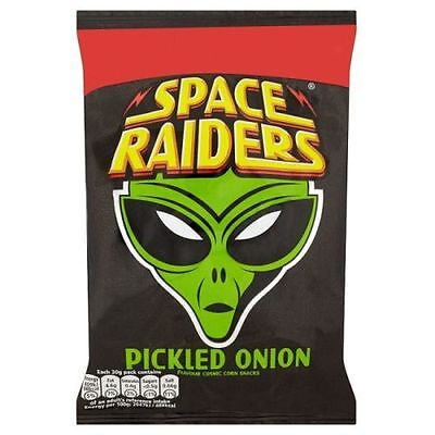 Space Raiders 20g Box of 40 packs PICKLED ONION Price Marked Now Only £8.99