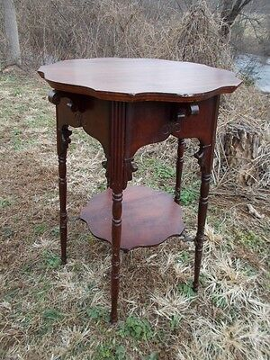 Antique Hand Carved Victorian Stand Early 1900s ~ near Wintergreen, Virginia