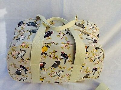Ladies Large Weekend Canvas Holdall, Maternity Bag, Travel Or Gym Bag. New