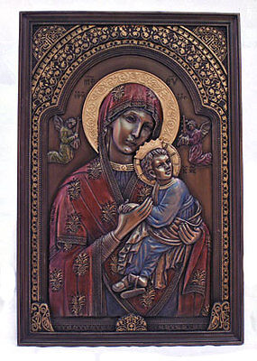 Our Lady Of Perpetual Help Plaque,  Cold Cast Bronze, 6x9""