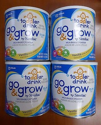 Similac Go & Grow Milk-Based Powder Toddler Drink, Vanilla - 1.5 LB, Pack of 4