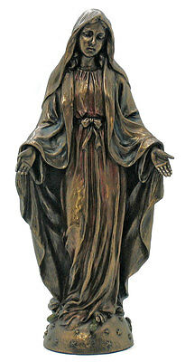 Lady Of Grace Statue, Hand-Painted, Cold-Cast Bronze, 8""