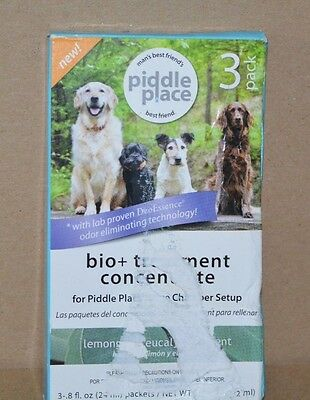 Piddle Place Bio+Treatment Concentrate 3 Pack pet Odor Elimination New