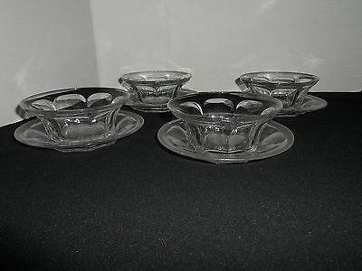 Vintage Heisey Finger Bowls with Underliners, Colonial Pattern