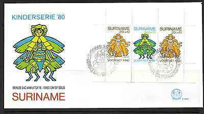 Suriname 1980 Fdc – Child Welfare Mini Sheet #a0343